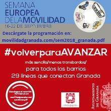 Conoce las actividades organizadas por el Ayuntamiento de Granada en la Semana de la Movilidad.