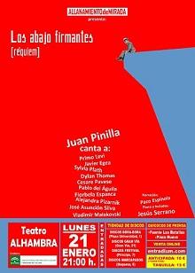 Juan Pinilla presenta este lunes en el Teatro Alhambra, 'Los abajo firmantes', su deslumbrante última creación