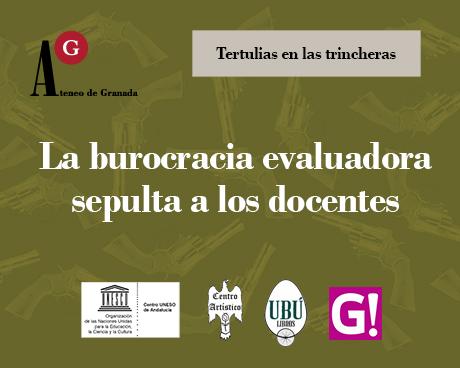 Tertulia 'La burocracia evaluadora sepulta a los docentes'.