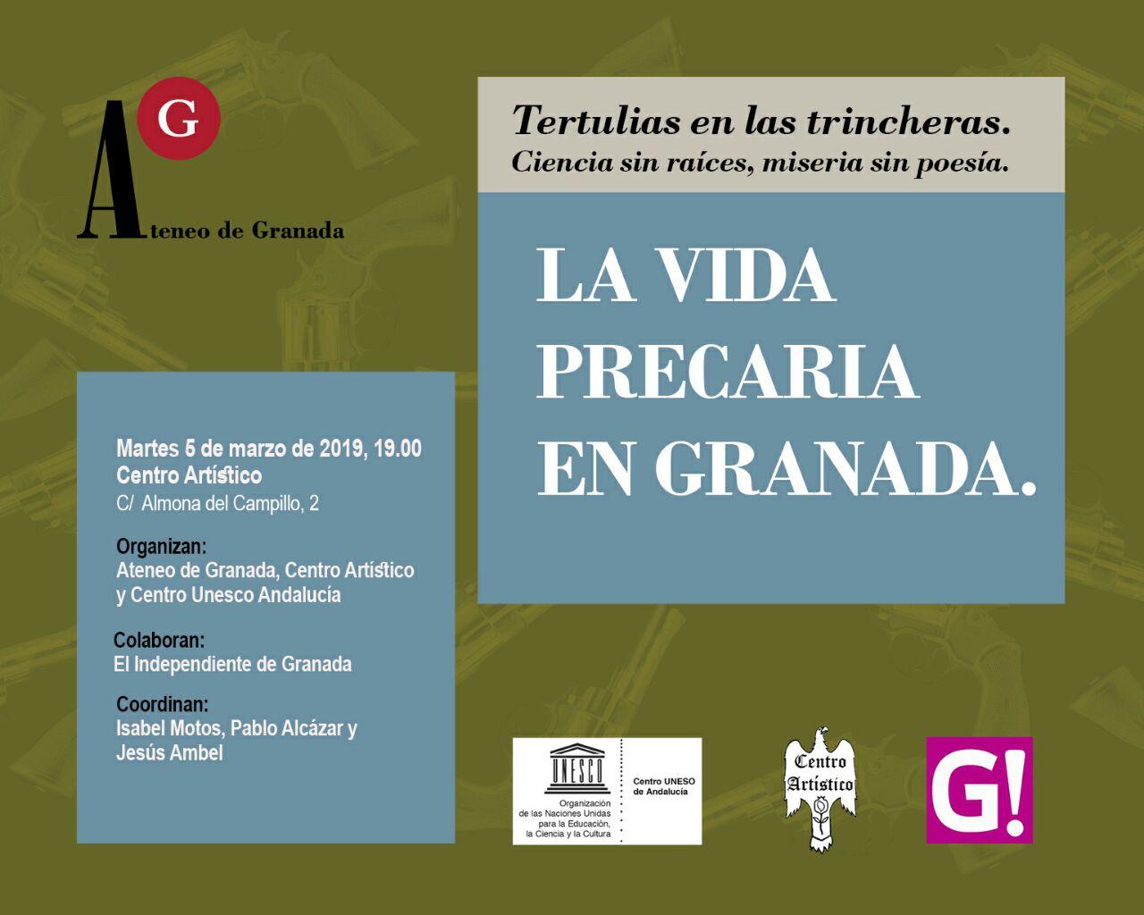Tertulias Ateneo. La vida precaria en Granada