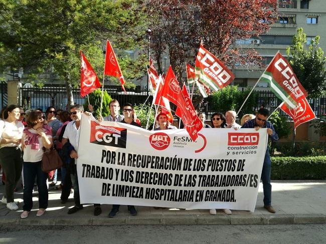 El sector de la limpieza hospitalaria de granada protesta for Limpieza de comunidades en granada