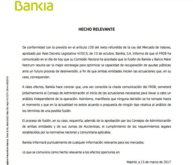 M xima preocupaci n por la p rdida de empleos en bmn el for Oficinas de bankia en granada