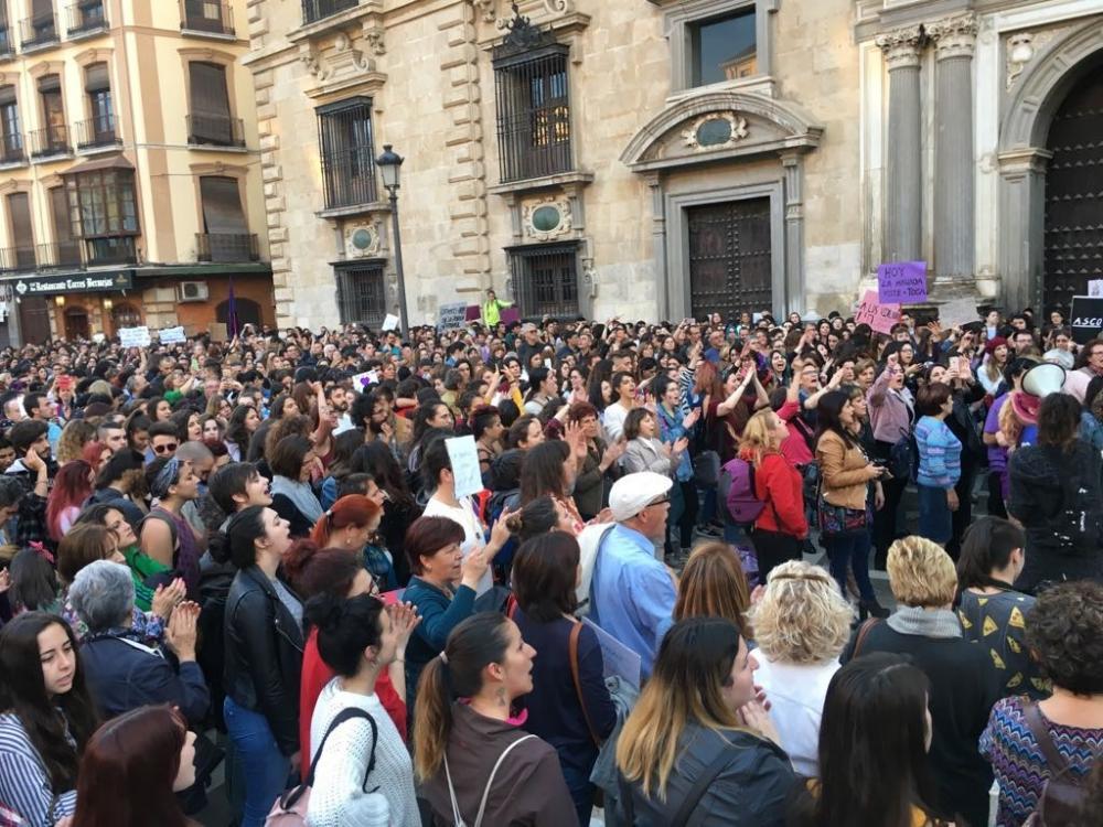 Miles de personas se han concentrado a las puertas del TSJA y han marchado después hacia la Fuente de las Batallas.