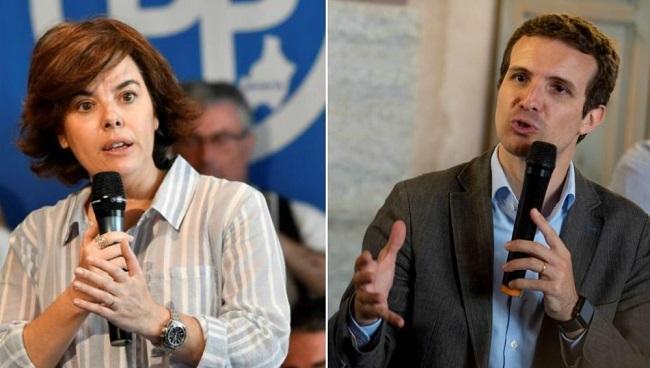 Soraya Sáenz de Santamaría y Pablo Casado.
