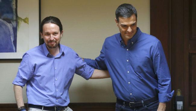 Pablo Iglesias y Pedro Sánchez, en tiempos mejores de entendimiento entre ambos.