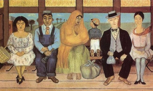'The bus' (1929), de Frida Kahlo.