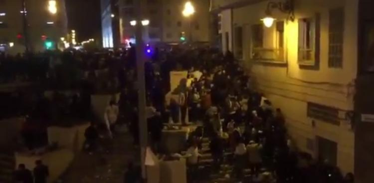 Imagen de la estampida en Málaga durante la procesión del Cautivo.