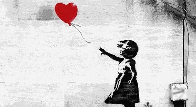 'Niña con globo' (2006), de Banksy.