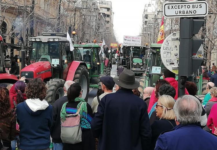 Imagen de la histórica protesta del pasado miércoles.