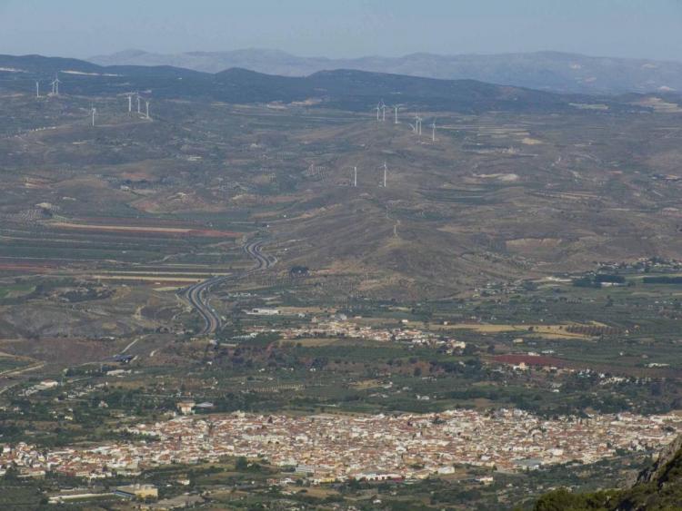 Vista de Dúrcal desde Sierra Nevada.