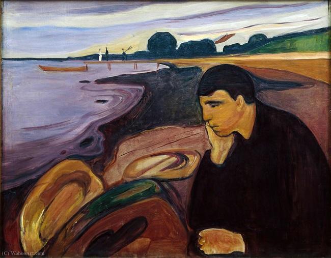 'Melancolía', de Edvard Munch (1894).
