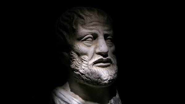 Escultura de Aristóteles.