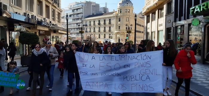 Imagen de la multitudinaria movilización de este jueves.
