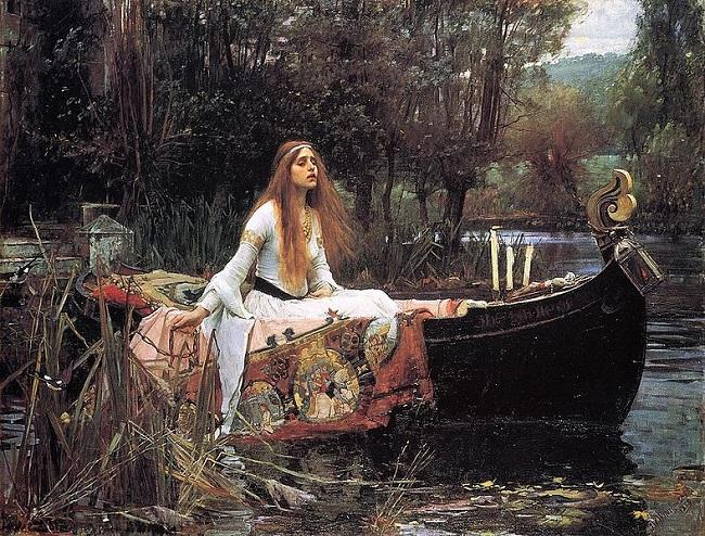 'The Lady Of Shalott' (1888), de John William Waterhouse.
