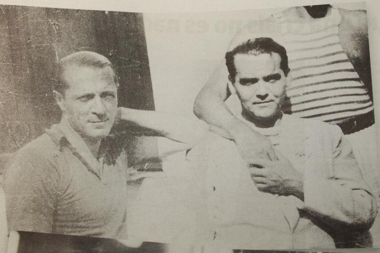 Enrique Amorim junto a Federico García Lorca.