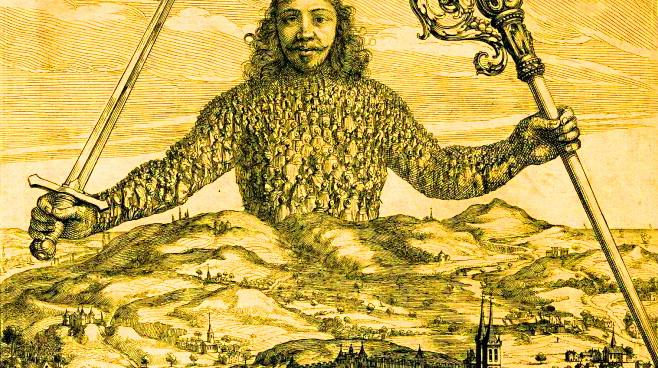 Leviathan, or 'The Matter, Forme and Power of a Common Wealth Ecclesiasticall and Civil', de Thomas Hobbes.