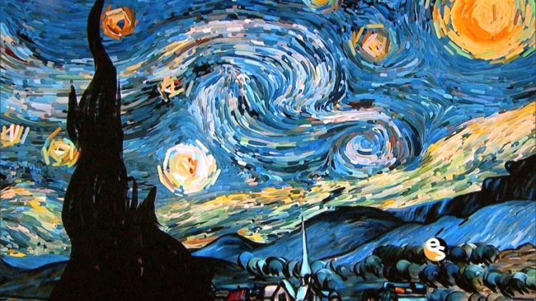 La Noche Estrellada (Van Gogh, 1889).