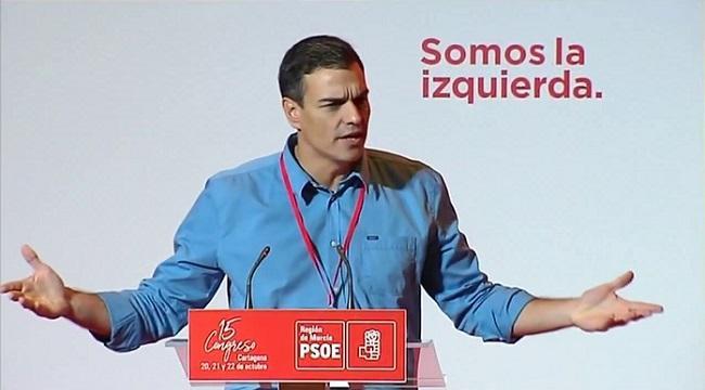 Pedro Sánchez, en un acto del PSOE.