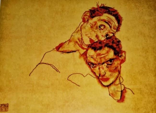 'Autorretrato doble', 1915, de Egon Schiele.