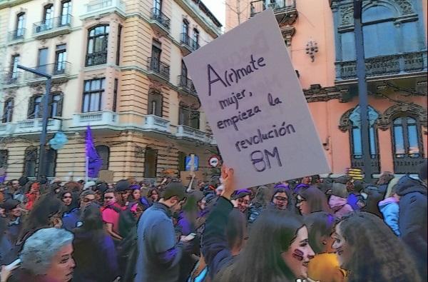 Imagen de la pasada manifestación del 8M.