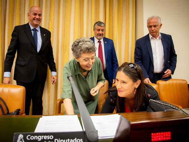 Rosa María Mateo, cuando compareció en el Congreso el pasado 25 de septiembre.