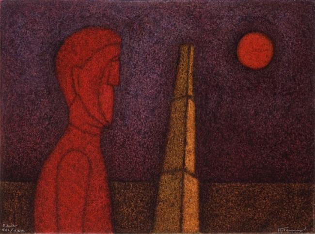 'Figura en rojo' (1989), Rufino Tamayo.