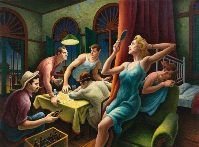 Poker Night (from A Streetcar Named Desire) (1948), de Thomas Hart Benton.