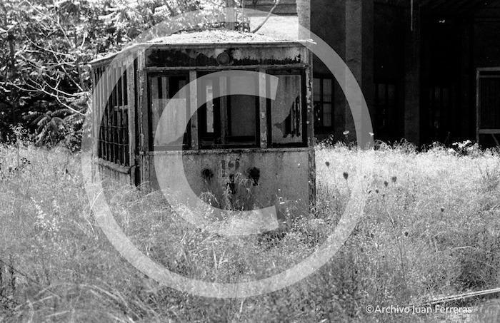 El ultimo tranvía que estuvo durante mucho tiempo en las antiguas cocheras de tranvías.