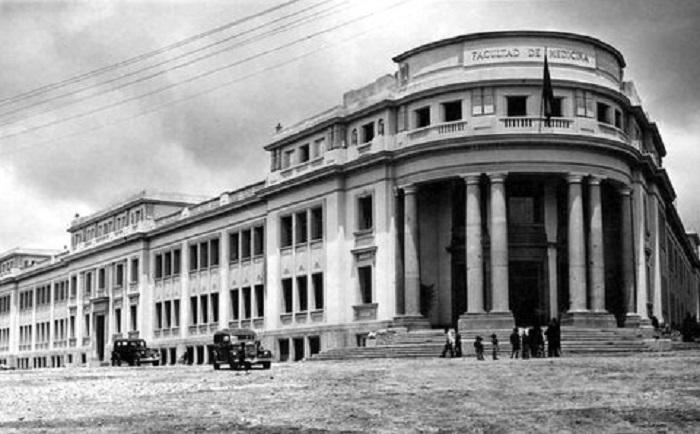 La penúltima de las facultades de Medicina, en la Avenida de Madrid, en 1945.