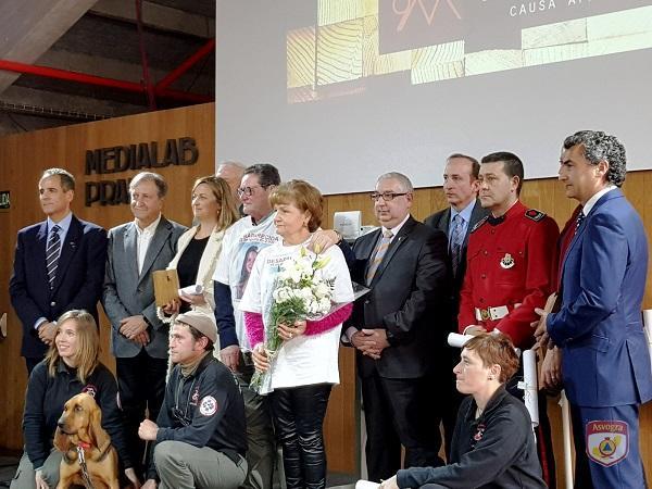 Foto de familia de la entrega de los premios.