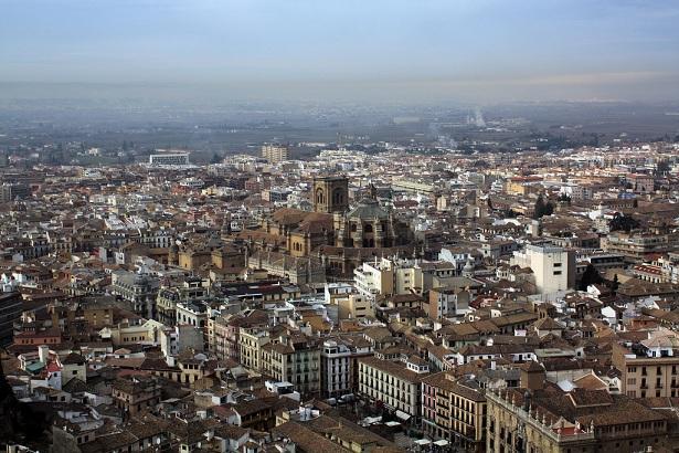 Vista del centro de Granada.