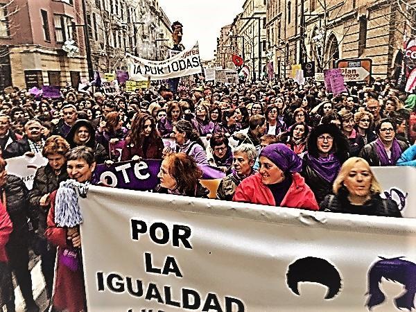 Imagen de la histórica manifestación del 8M.