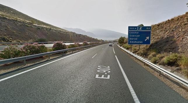 A-44, en la zona en la que ocurrió el accidente provocado.