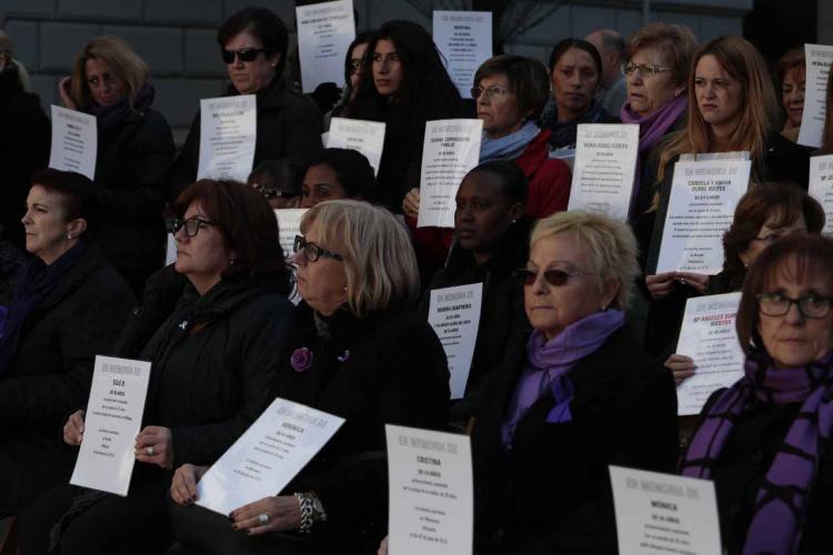 Acto contra la violencia machista el 25 de noviembre del año pasado.