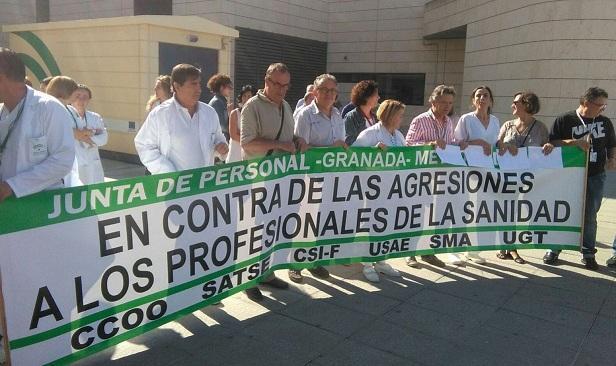 Protesta por la agresión en el Hospital del PTS.