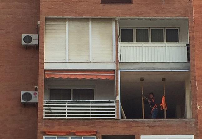 Una vivienda en proceso de rehabilitación.