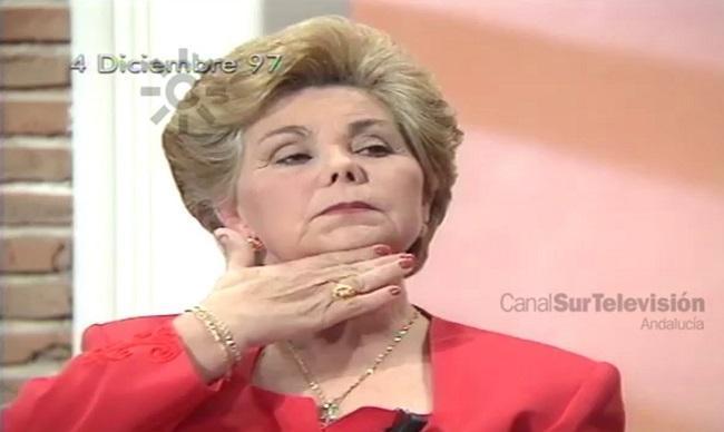 Ana Orantes, cuando narró su vida de sufrimiento en televisión.