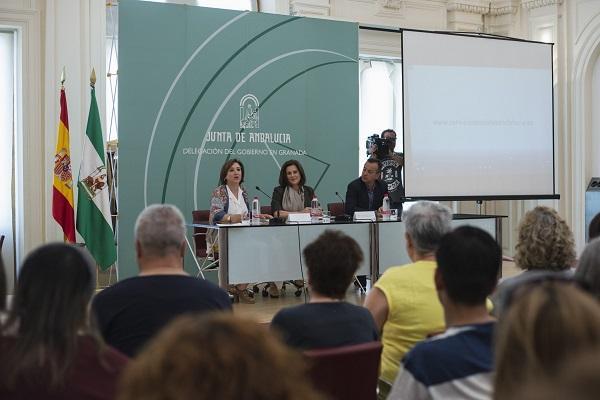 La consejera de Igualdad, en el acto que ha presidido este lunes en Granada.