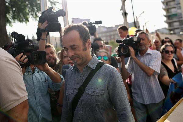 Francesco Arcuri en una de las comparecencias en el Juzgado en Granada.