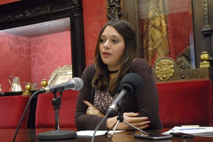 La concejal Jemi Sánchez.