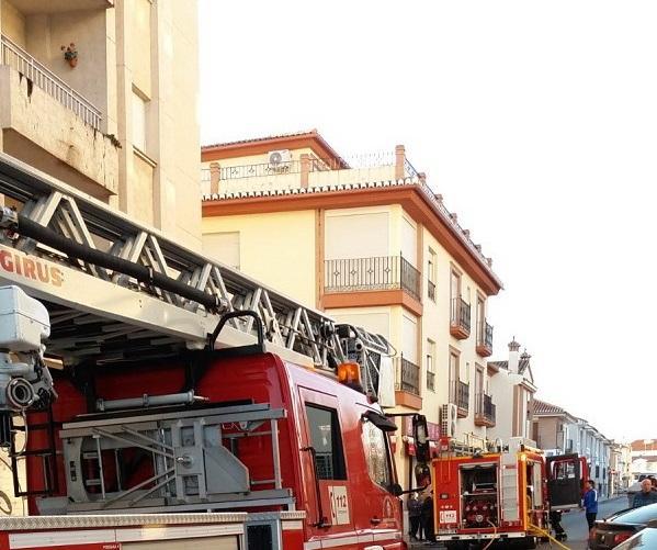 El dispositivo de bomberos que actuó en el incendio mortal.