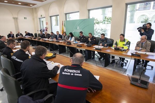 Reunión de coordinación del operativo.