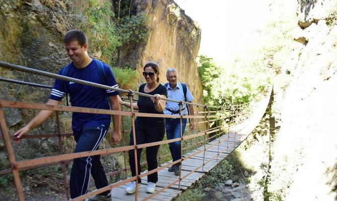 Puente colgante Los Cahorros.