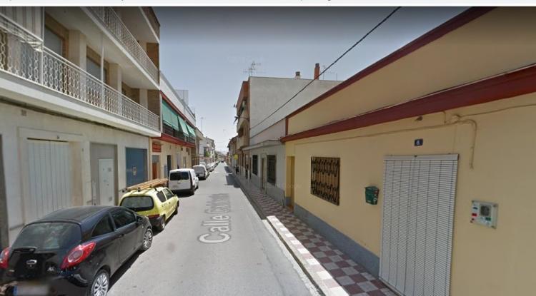El suceso ocurrió en la calle Calderón.
