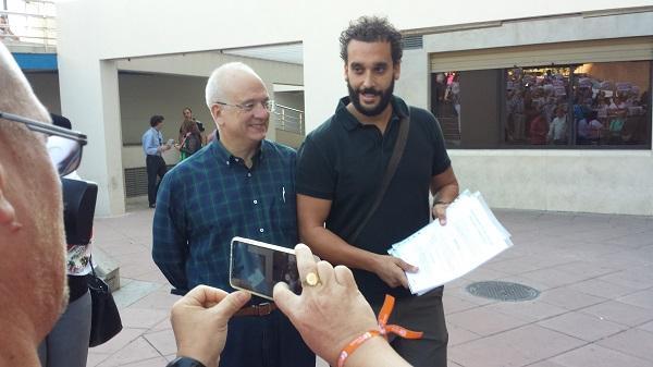 Candel, en octubre del pasado año, al presentar la denuncia en Granada.