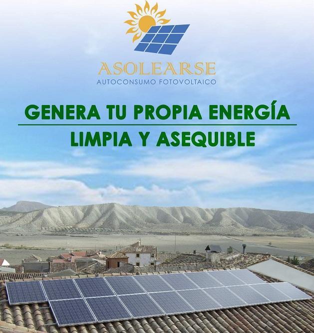 Cartel de la campaña para autoconsumo fotovoltaico.