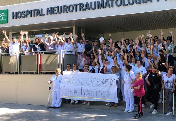 Protesta de hace unos días en Traumatología.