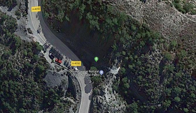 Una de las zonas de aparcamiento para hacer la ruta del Río Verde donde el ladrón actuaba.