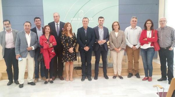Autoridades de Junta, Cáritas, Armilla, Maracena y Loja.