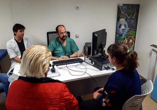 Consulta de Pediatría en el PTS.